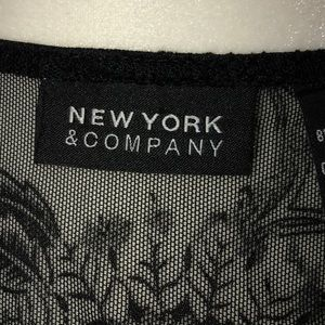 New York & Company Tops - New York and Co. Black lace wrapped top